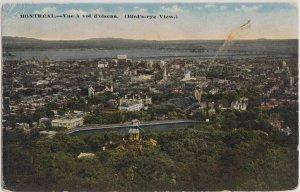 MONTREAL Quebec - BIRD'S EYE VIEW / 1910s era / Vue a vol d'olseau