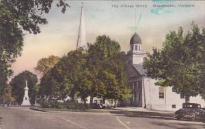 The Village Green Manchester Vermont Handcolored Albertype
