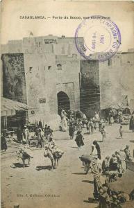 Morocco Casablanca 1907 Porte du Socco ethnic life