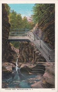 New York Watkins Glen The Fairies' Pool Curteich