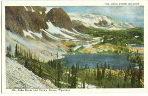 On Union Pacific Railroad, Lake Marie and Snowy Range, Wyoming, unused Postcard