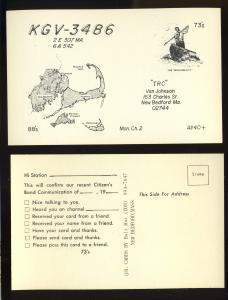 New Bedford, Mass/MA QSL Postcard, KGV-3486 TRC, Van Johnson