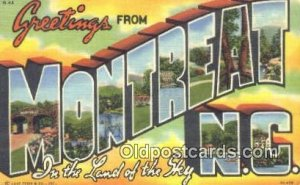 Montreat, NC, USA Large Letter Town Postcard Post Card Old Vintage Antique Un...