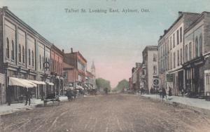 AYLMER , Ontario, Canada, 1910 ; Talbot Street , Looking East