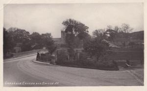 Gargrave Church Yorkshire in 1918 Wartime WW1 Real Photo Postcard