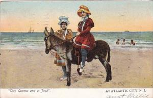 New Jersey Atlantic City Two Queens And A Jack At Atlantic City 1906