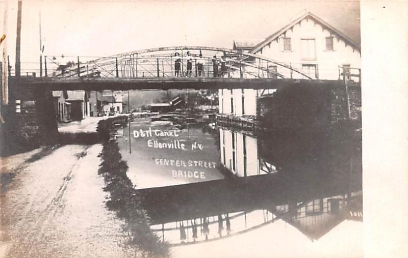 Real Photo Delaware and Hudson Canal Post Card Old Vintage Antique Center Str...