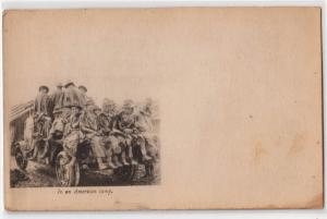 In American Camp - Red Cross Card