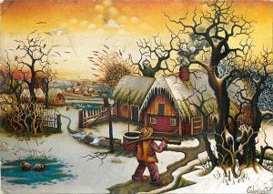 Landscape fantasy novelty postcard published by F.J. Warren Hertordshire