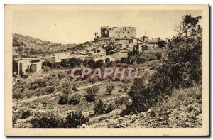 Old Postcard Greoux Les Bains General View