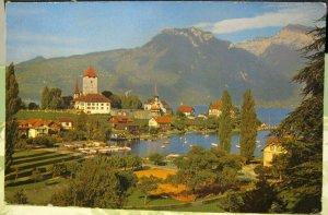 Switzerland Spiez am Thunersee mit Schloss etc - posted