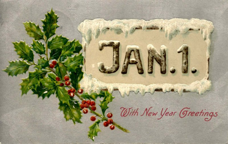 Greeting - New Year. January 1 (Winsch)