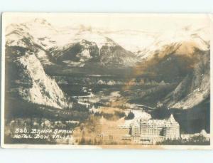 1940's rppc HOTEL SCENE Banff Alberta AB W0922