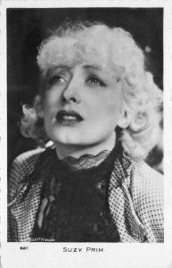 Francais 1940s Silent Movie Actress Suzy Prim #527 RPPC Photo Postcard 20-6268