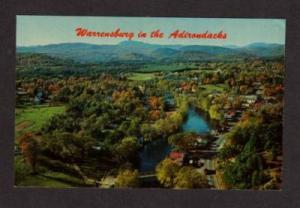NY Aerial View City Schroon River WARRENSBURG NEW YORK