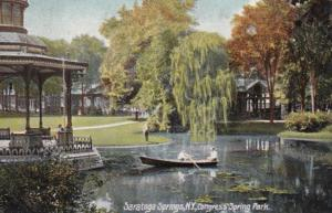 New York Saratoga Springs Congress Spring Park