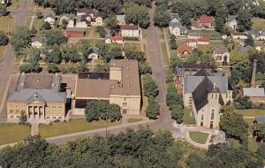 Chippewa Falls Wisconsin~Aerial~McDonald High School~Grade School~Homes~1950s PC