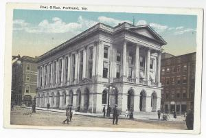 Portland Maine Post Office Eastern News Co Postcard Vintage ca 1920