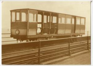 Essex; Toastrack Train, Winter Car, 1922 Repro PPC, Unused, Southend Pier Museum