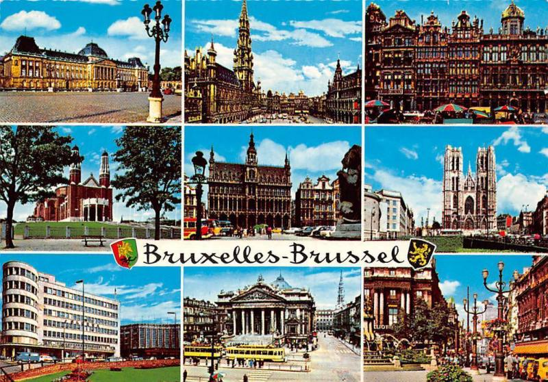 Belgium Bruxelles Brussel multiviews Town Hall Rathaus Palast Church Eglise Tram