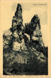 CPA Env. de CLAMECY - Rochers de Basseville (456387)