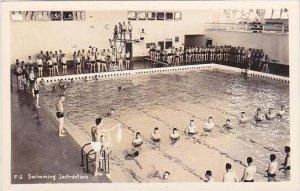 Idaho Farragut Naval Training Center Swimming Instruction Real Photo RPPC