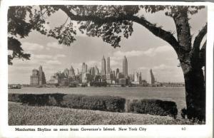 USA Manhattan Skyline as seen from Governor's Island New York City 01.77
