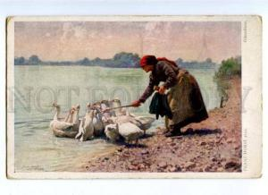 176953 Ganseliese GOOSE Old Woman by HORST Vintage SALON PC