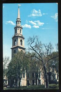 Providence, Rhode Island/RI Postcard, First Baptist Church
