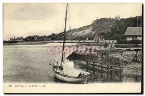 Old Postcard Port Boat Dives Children