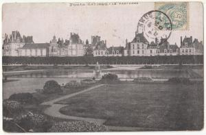 France, Fontainebleau, Le Parterre, used Postcard