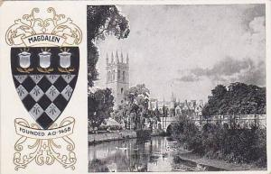 Coat Of Arms, Magdalen College, Oxford, England, UK, 1900-1910s