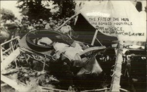 MaCabre WWI Dead German HUN WHO BOMBED HOSPITALS Real Photo Postcard G19