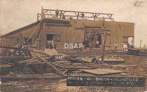 C94/ Nebraska? Missouri? RPPC Postcard 1909 Tornado Disaster Modern Woodmen