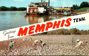 Tennessee Mamphis Greetings Showing Memphis Queen II and Cotton P...