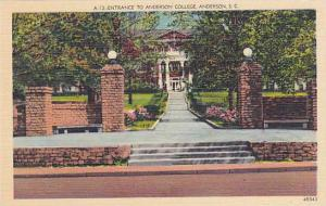 Entrance To Anderson College, South Carolina, 30-40s