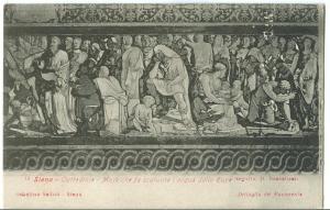 Siena, Cattedrale, Mose chef a scaturire l'acqua dalla Rupe, early 1900s
