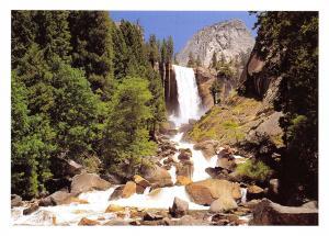 Yosemite National Park California, USA Postcard Vernal Fall Waterfall X46
