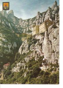 Postal 041345 : Montserrat. El Monasterio y Aereo del Llobregat