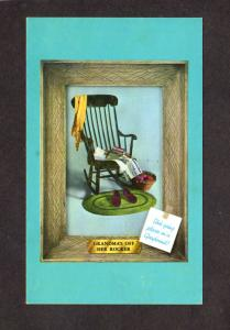 Super Scenicruiser Bus Greyhound Rocking Chair Slippers Knitting Ad Postcard