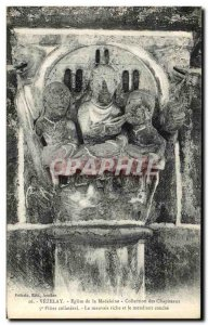 Old Postcard Vezelay Facade Church of the Madeleine Collection Capital Pillar...
