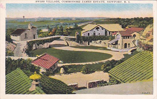 NEWPORT, Rhode Island, 1900-1910's; Swiss Village, Commodore James Estate