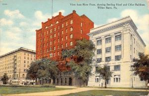 Wilkes Barre Pennsylvania~Riverfront View~Sterling Hotel~Office Buildings~1911