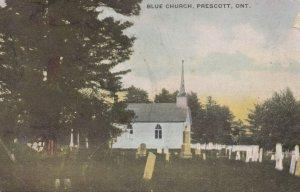 PRESCOTT, Ontario, Canada, PU-1908; Blue Church