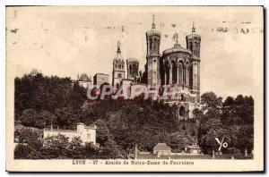 Postcard Old Lyon Apse of Notre Dame de Fourviere