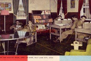 READING AND WRITING ROOM, ARMY AIR BASE, SALT LAKE CITY, UT Army Air Corps photo