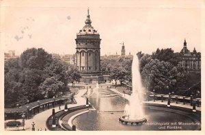 Friedrichplatz mit Wasserturm und Fontane Germany 1934