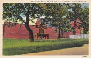 Virginia Williamsburg Prison Of Virginia Colony In 1701 Showing Stocks Curteich