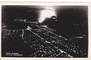 RP: Night View , Vista Do Corcovado , Rio de Janeiro , Brazil , 30-40s