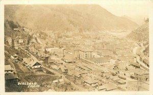 Birdseye View Wallace Idaho C-1920 RPPC Photo Postcard 20-2363